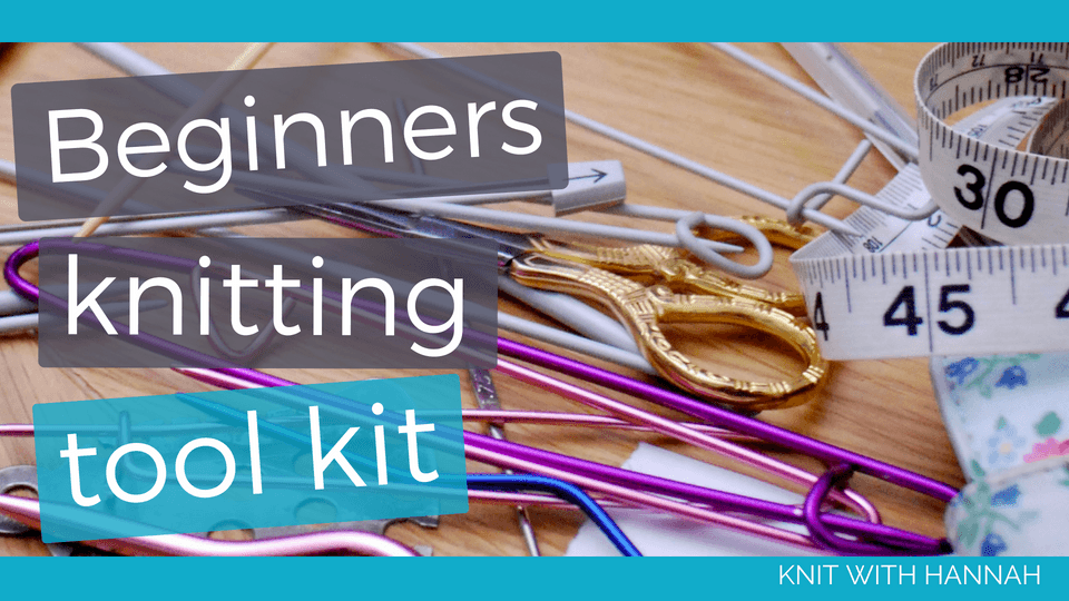 How much does a beginner knitter need... just one or two pairs of needles, a couple of balls of yarn and some tools- I'll help you find the tools today!