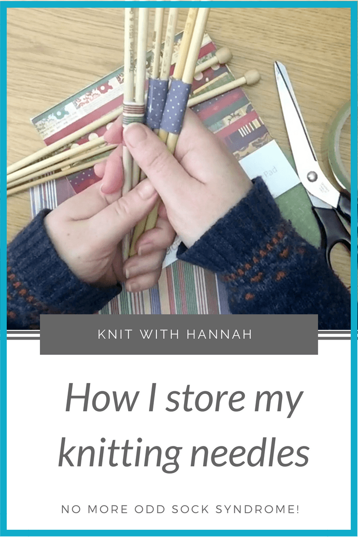 How do you keep track of those knitting needle pairs?  Are they all over the place?  Do you dare not use them, for fear of losing one?