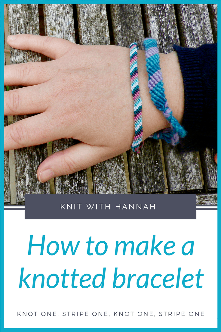 You might be surprised to learn that when you start knotting like this you're learning a whole new yarn craft.... yes you're actually doing 'macramé'. Let's knot a friendship bracelet, using my extra fast method to speed you along.