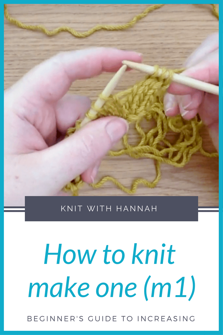 If you're starting to knit, and you're knitting a beginner's project with a bit of shaping, you need one technique for increasing, and it's a simple m1. Yes all your increasing needs on a knit row is make one.
