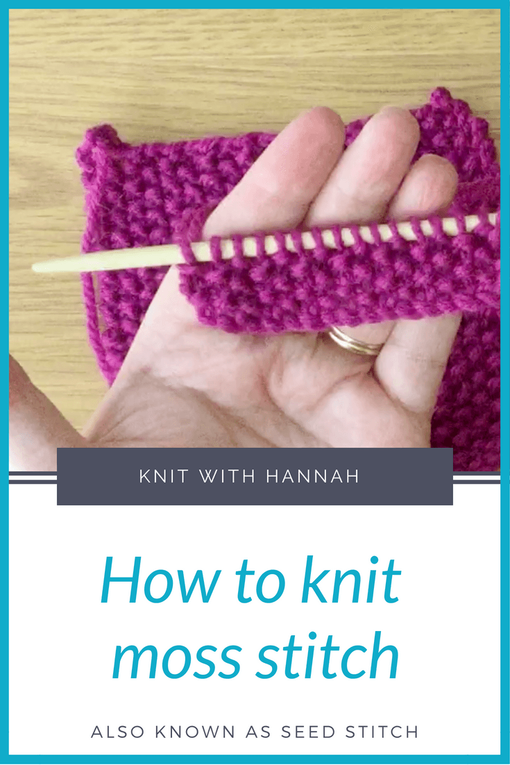 Also known as seed stitch this is a fabulous stitch pattern for beginners to learn how to use knit and purl stitches in combination.
