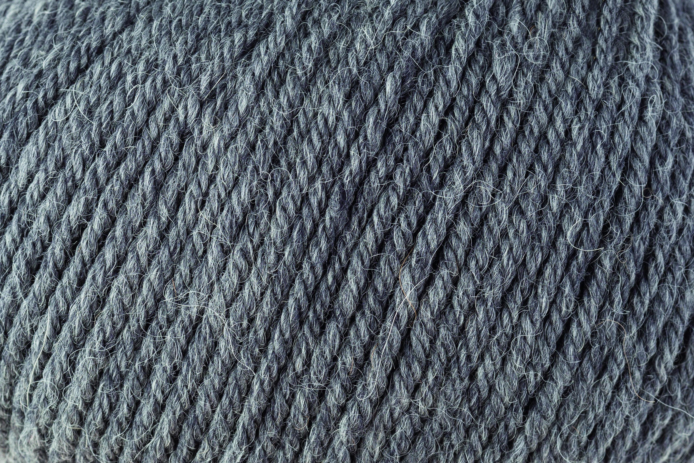 Close up image of yarn Rowan Alpaca Soft DK shade Charcoal medium gret