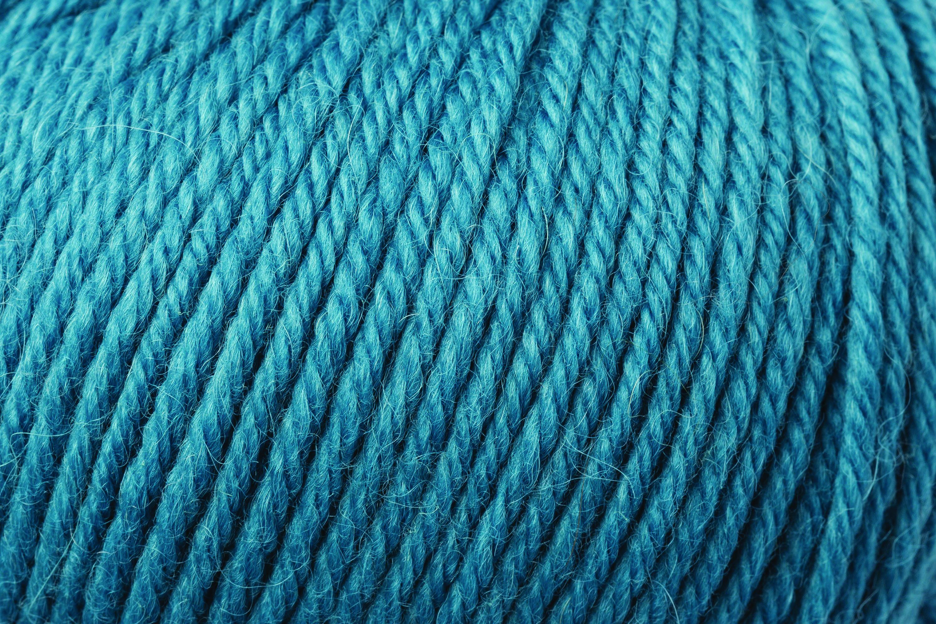 Close up image of yarn Rowan Alpaca Soft DK shade Naples Blue, gentle blue with hint of turquoise